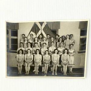 Original Photograph Swedish High School Gym Class